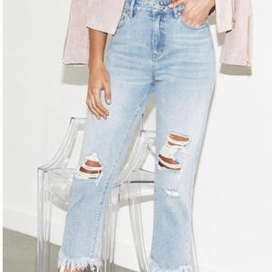 Like New Kendall & Kylie High Waisted Ripped Jeans